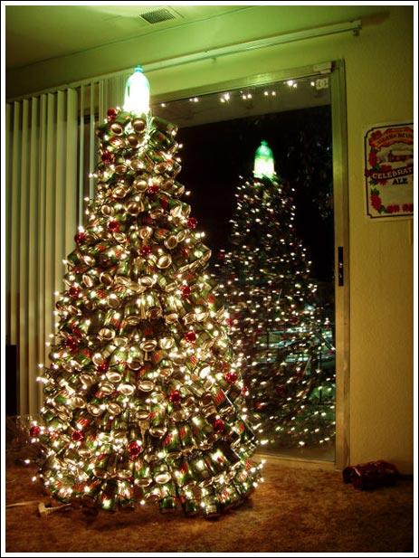 Holiday tree lit up