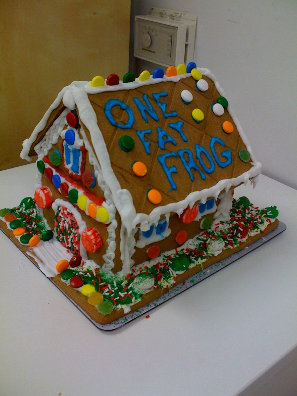One Fat Frog Gingerbread House