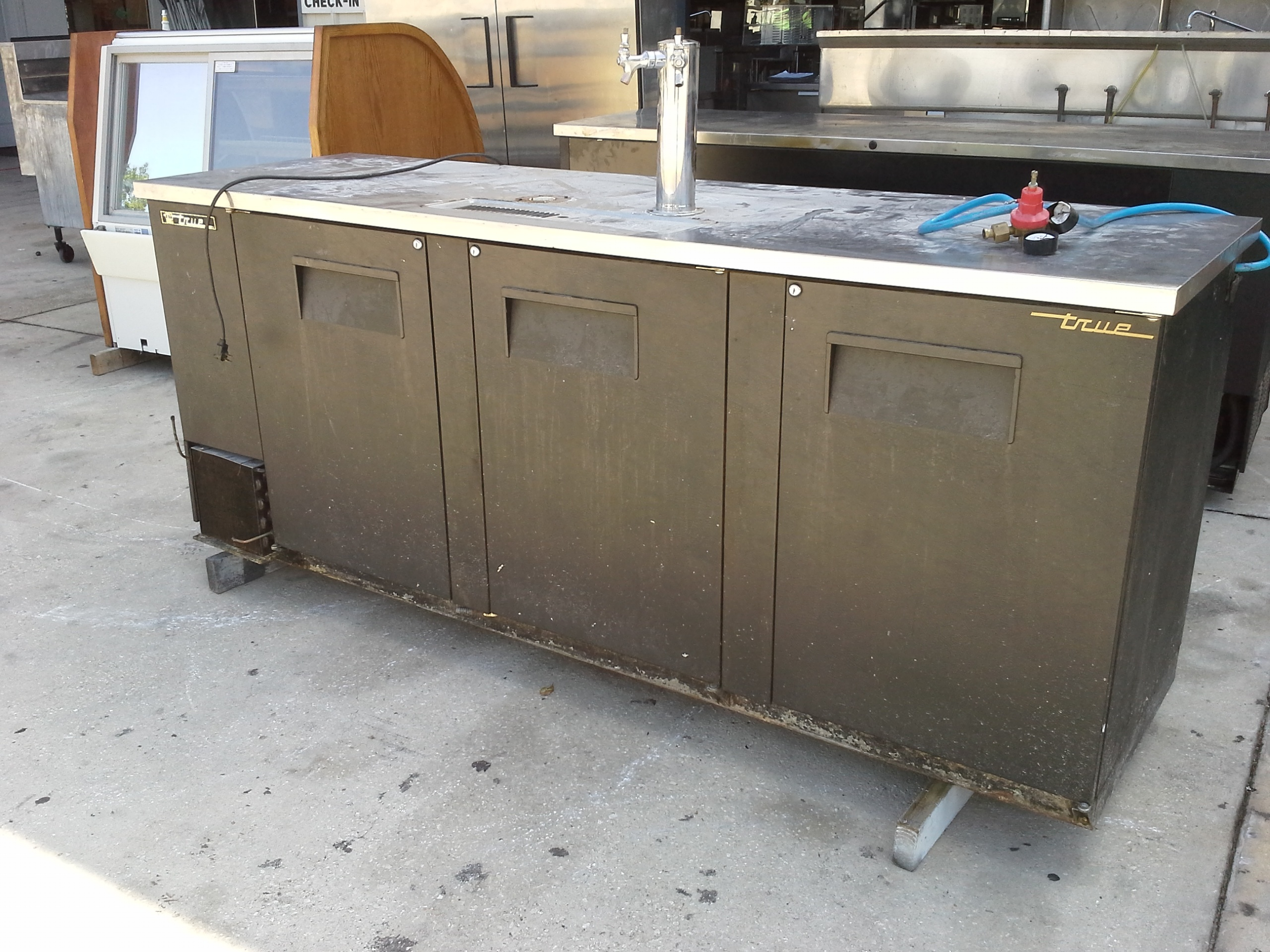 Used true kegerator and other bar equipment on sale