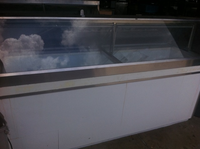 Used Ice Cream Dipping Cabinet One Fat Frog