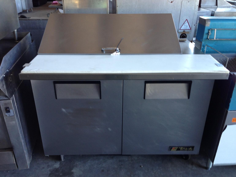 True 2-Door Refrigerated Megatop Prep Table