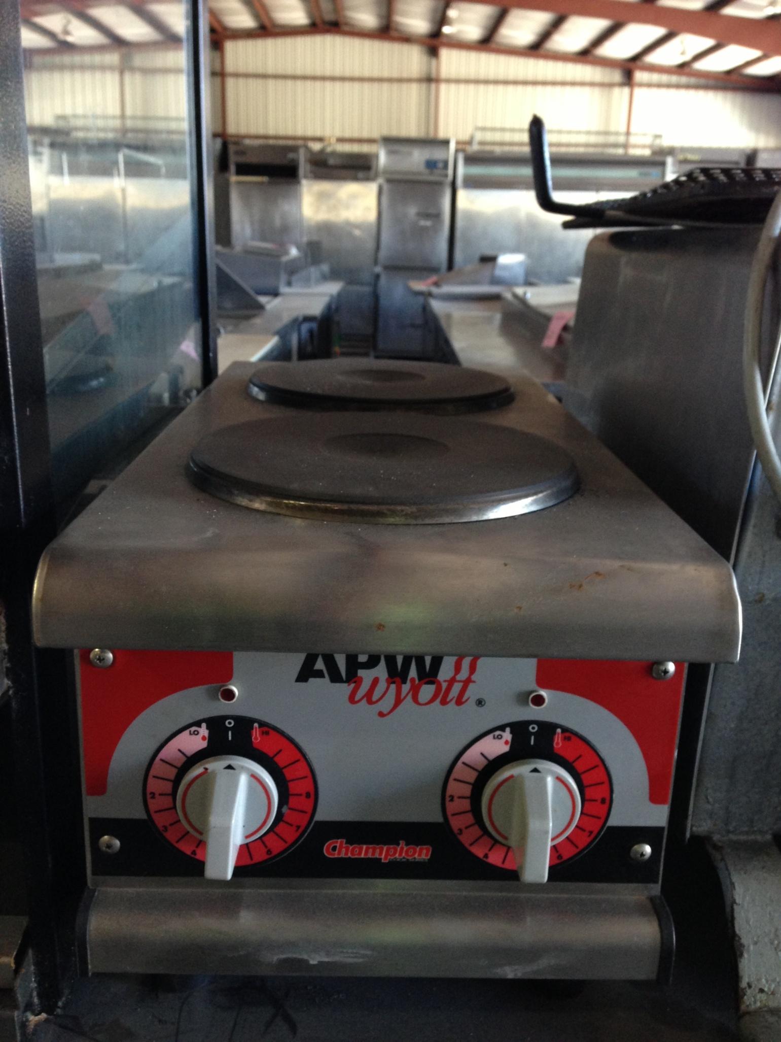 APW Wyott Countertop 2-Burner