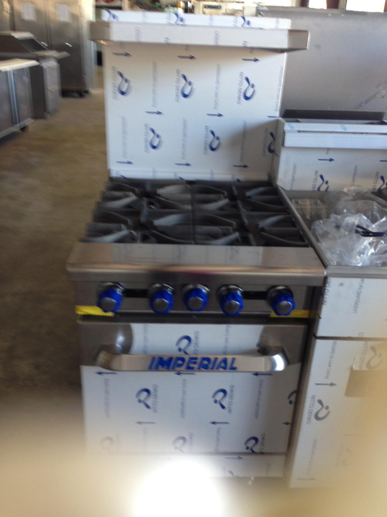 Imperial 4-burner range oven