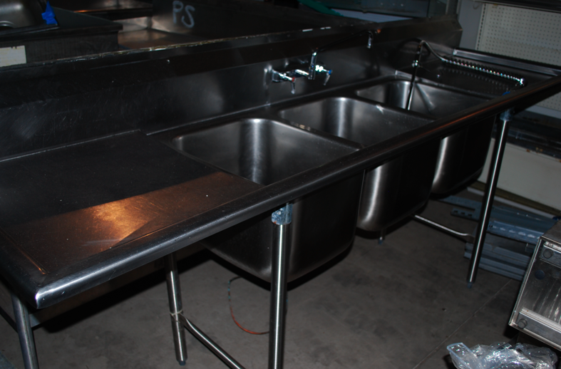 Great Selection of Used Restaurant Sinks Available! One Fat Frog