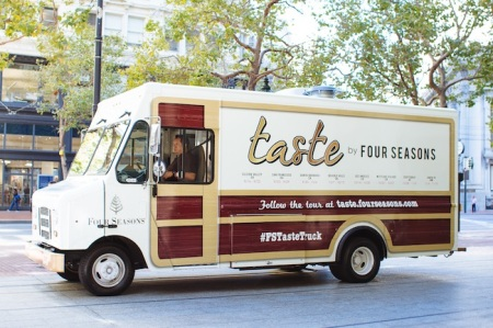 The Four Seasons will promote its brand with a food truck traveling the states.
