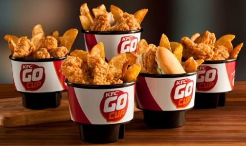 KFC this week unveiled its Go Cup that will fit in your car's cup holder.