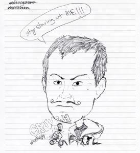 Jerome caricature