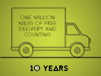 The Frog celebrates 1,000,000 miles and 10 years of Restaurant Equipment!